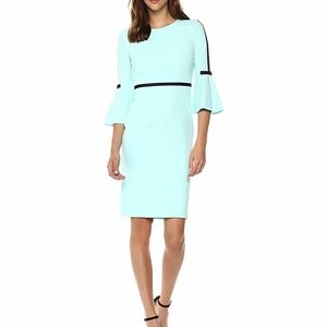Calvin Klein Bell Sleeve with Ribbon Trim